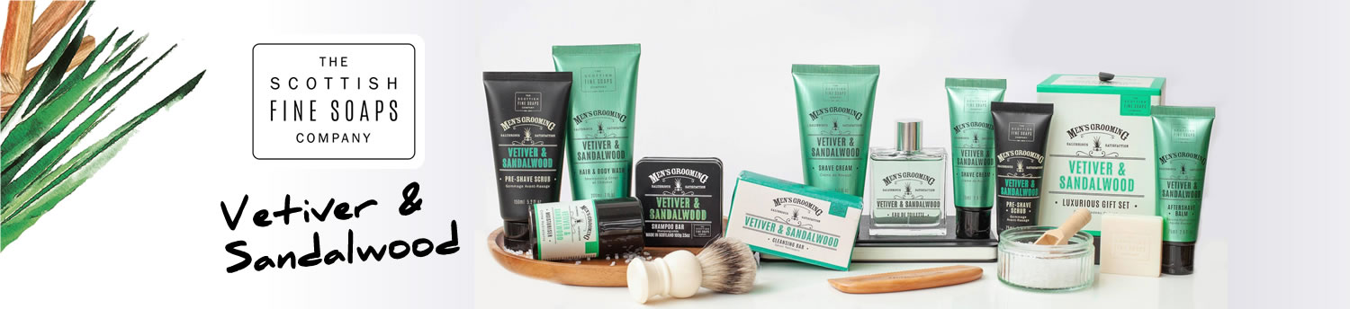 Scottish Fine Soaps Vetiver & Sandalwoood